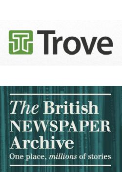 Online newspapers: Trove and the British Newspaper Archive