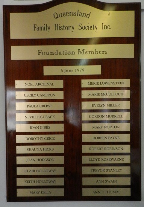 Honour Board - Founding Members