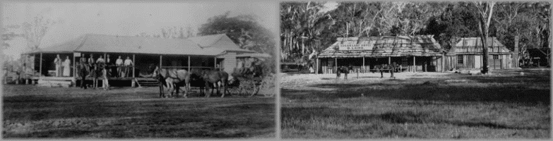 Bush Hotels: Eurie Creek Hotel, 1890; Sugarloaf Hotel, 1872. State Library of Queensland.