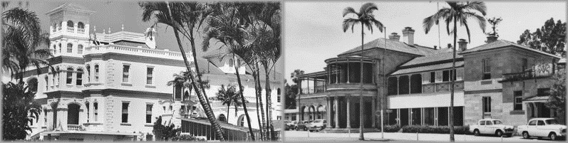 Government Houses: Fernberg, 1947; Old Governemnt House, 1960. State Library of Queensland.