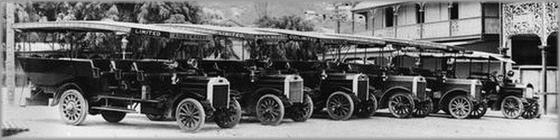 Omnibuses on a Townsville Street, ca. 1927. State Library of Queensland.